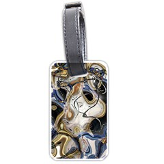 Time Abstract Dali Symbol Warp Luggage Tags (one Side)