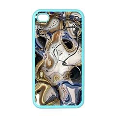 Time Abstract Dali Symbol Warp Apple Iphone 4 Case (color)