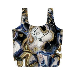 Time Abstract Dali Symbol Warp Full Print Recycle Bags (m)