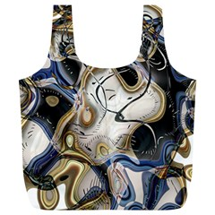 Time Abstract Dali Symbol Warp Full Print Recycle Bags (l)