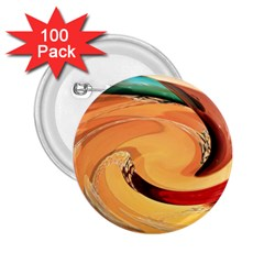 Spiral Abstract Colorful Edited 2 25  Buttons (100 Pack)