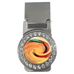 Spiral Abstract Colorful Edited Money Clips (cz)