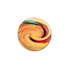 Spiral Abstract Colorful Edited Golf Ball Marker (4 Pack)
