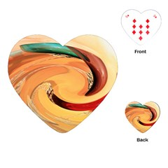 Spiral Abstract Colorful Edited Playing Cards (heart)