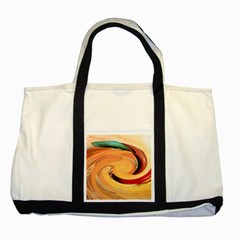 Spiral Abstract Colorful Edited Two Tone Tote Bag