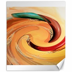 Spiral Abstract Colorful Edited Canvas 20  X 24