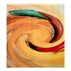 Spiral Abstract Colorful Edited Shower Curtain 66  X 72  (large)