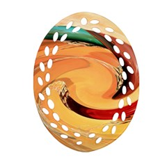 Spiral Abstract Colorful Edited Ornament (oval Filigree)