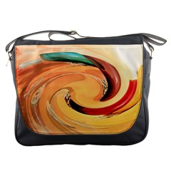 Spiral Abstract Colorful Edited Messenger Bags