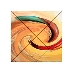 Spiral Abstract Colorful Edited Acrylic Tangram Puzzle (4  X 4 )
