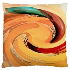 Spiral Abstract Colorful Edited Large Cushion Case (two Sides)