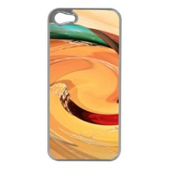 Spiral Abstract Colorful Edited Apple Iphone 5 Case (silver)