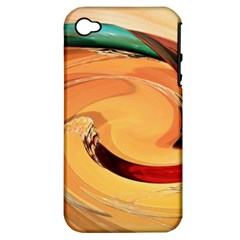 Spiral Abstract Colorful Edited Apple Iphone 4/4s Hardshell Case (pc+silicone)