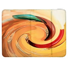 Spiral Abstract Colorful Edited Samsung Galaxy Tab 7  P1000 Flip Case