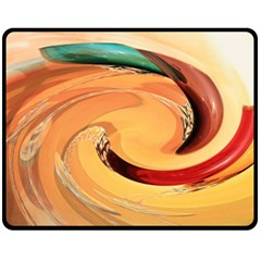 Spiral Abstract Colorful Edited Double Sided Fleece Blanket (medium)
