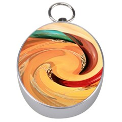 Spiral Abstract Colorful Edited Silver Compasses