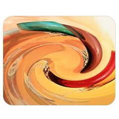 Spiral Abstract Colorful Edited Double Sided Flano Blanket (medium)