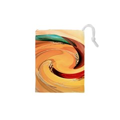 Spiral Abstract Colorful Edited Drawstring Pouches (xs)