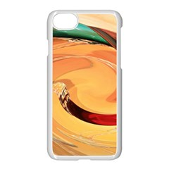 Spiral Abstract Colorful Edited Apple Iphone 7 Seamless Case (white)