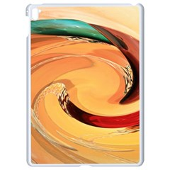 Spiral Abstract Colorful Edited Apple Ipad Pro 9 7   White Seamless Case