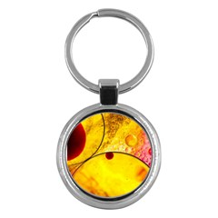 Abstract Water Oil Macro Key Chains (round)