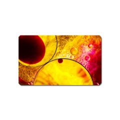 Abstract Water Oil Macro Magnet (name Card)
