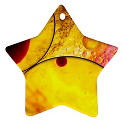 Abstract Water Oil Macro Star Ornament (two Sides)