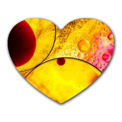 Abstract Water Oil Macro Heart Mousepads