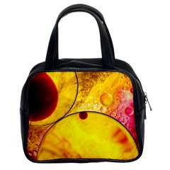 Abstract Water Oil Macro Classic Handbags (2 Sides)