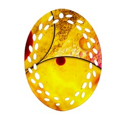 Abstract Water Oil Macro Oval Filigree Ornament (two Sides)