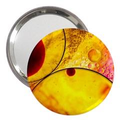 Abstract Water Oil Macro 3  Handbag Mirrors