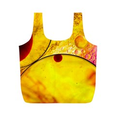 Abstract Water Oil Macro Full Print Recycle Bags (m)
