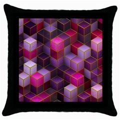 Cube Surface Texture Background Throw Pillow Case (black)