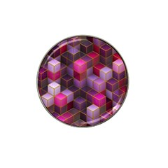 Cube Surface Texture Background Hat Clip Ball Marker (4 Pack)