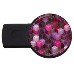 Cube Surface Texture Background Usb Flash Drive Round (4 Gb)