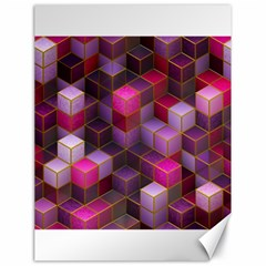 Cube Surface Texture Background Canvas 18  X 24