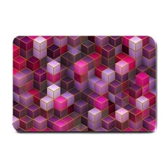 Cube Surface Texture Background Small Doormat