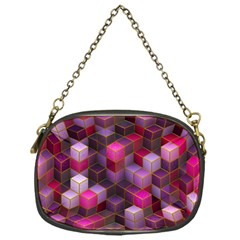 Cube Surface Texture Background Chain Purses (one Side)