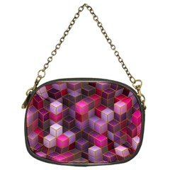 Cube Surface Texture Background Chain Purses (two Sides)
