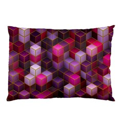 Cube Surface Texture Background Pillow Case
