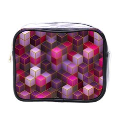Cube Surface Texture Background Mini Toiletries Bags