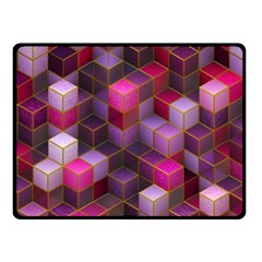 Cube Surface Texture Background Fleece Blanket (small)