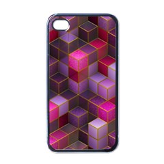 Cube Surface Texture Background Apple Iphone 4 Case (black)