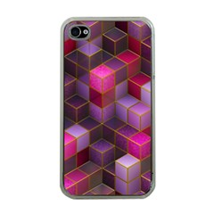 Cube Surface Texture Background Apple Iphone 4 Case (clear)