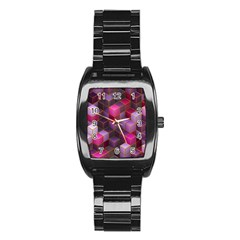 Cube Surface Texture Background Stainless Steel Barrel Watch