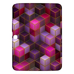 Cube Surface Texture Background Samsung Galaxy Tab 3 (10 1 ) P5200 Hardshell Case