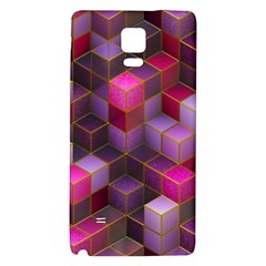 Cube Surface Texture Background Galaxy Note 4 Back Case