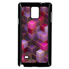 Cube Surface Texture Background Samsung Galaxy Note 4 Case (black)