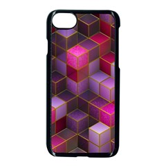 Cube Surface Texture Background Apple Iphone 7 Seamless Case (black)