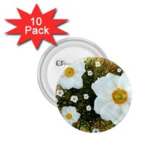 Summer Anemone Sylvestris 1 75  Buttons (10 Pack)